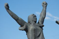 Monumento a los héroes de la revolución de 1905 años, fragmento Imagen de archivo libre de regalías