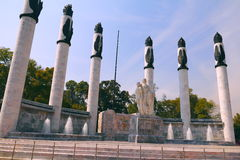 Monumento a los heroes II. Monument to the heroes, located in chapultepec park in mexico city Royalty Free Stock Photo