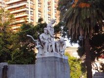 Monumento a los inmigrantes alemanes. Foto de archivo