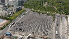 Monumento a los jud?os asesinados de Europa almacen de video