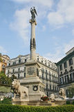 Monumento a los mártires Neapolitans Foto de archivo libre de regalías