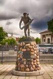 Monumento a los marineros noruegos cerca de la fortaleza de Akershus en Oslo, Noruega imagenes de archivo
