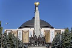 Monumento a los pa?ses de la coalici?n de anti-Hitler, partidario del callej?n en Victory Park en la colina de Poklonnaya, Mosc?, imagenes de archivo