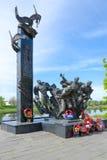 Monumento a los 23ro Guerrero-soldados de la guardia en la calle de Nizhne-Pokrovskaya, Polotsk, Bielorrusia Imagen de archivo