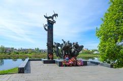 Monumento a los 23ro Guerrero-soldados de la guardia, Polotsk, Bielorrusia Imágenes de archivo libres de regalías
