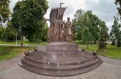 Monumento a los santos ortodoxos rusos Peter y Fevronia de Murom Imagen de archivo libre de regalías