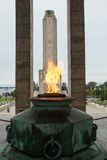 Monumento losu angeles bandera Obrazy Stock