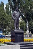 Monumento a M A Sholokhov fotografía de archivo libre de regalías