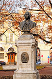 Monumento a M V Lomonosov en St Petersburg, Rusia fotografía de archivo