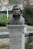 Monumento a Martin Luther in Subotica, Serbia Fotografia Stock Libera da Diritti
