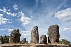 Monumento megalítico de Almendres, Evora imágenes de archivo libres de regalías