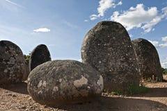 Monumento megalitico di Almendres, Evora Fotografia Stock