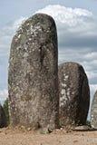 Monumento megalitico di Almendres, Evora Immagine Stock
