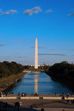 Monumento memorável de Washington na alameda de Washington foto de stock royalty free