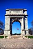 Monumento memorável nacional do arco do parque da forja do vale Imagens de Stock Royalty Free