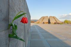 Monumento memor?vel do genoc?dio arm?nio, em Yerevan fotos de stock royalty free