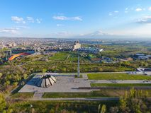 Monumento memor?vel do genoc?dio arm?nio, em Yerevan imagem de stock royalty free