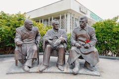 Monumento in memoria di Jalta, Crimea Congresso fotografia stock libera da diritti