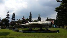 Monumento Mig17 en Indonesia Imágenes de archivo libres de regalías