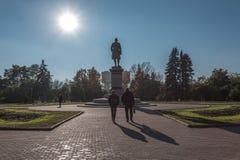 Monumento a Mikhail Lomonosov foto de archivo libre de regalías