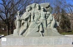 Monumento 13 milhares de Krasnodar - vítimas do terror fascista na cidade de Krasnodar Foto de Stock Royalty Free