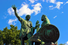 Monumento a Minin e a Pozharsky a Mosca Immagine Stock