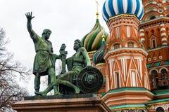 Monumento a Minin e a Pozharsky, Moscovo Imagens de Stock Royalty Free