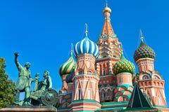 Monumento a Minin y a Pozharsky en Mosc Imagen de archivo libre de regalías