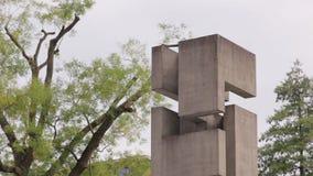 Monumento moderno astratto video d archivio