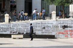 Monumento multiculturale di tolleranza e della società Fotografia Stock Libera da Diritti