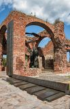 Monumento na fortaleza de Oreshek, Rússia Imagens de Stock