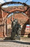 Monumento na fortaleza de Oreshek, Shlisselburg, Rússia Fotos de Stock