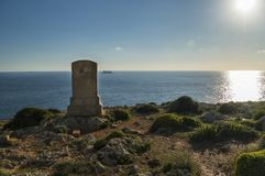 Monumento na mem?ria de Sir Walter Norris Congreve em Malta foto de stock