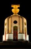 Monumento na noite, Banguecoque da democracia, Tailândia. fotografia de stock