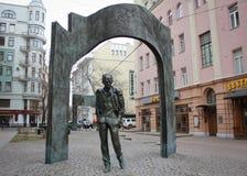 Monumento na rua de Arbat em Moscou Fotos de Stock