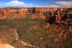 Monumento nacional 2 de Colorado imagem de stock