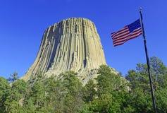 Monumento nacional da torre dos diabos, Wyoming Fotos de Stock Royalty Free