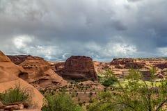 Monumento nacional de Canyon De Chelly Foto de archivo