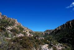 Monumento nacional de Chiricahua: el valle de rocas Foto de archivo libre de regalías