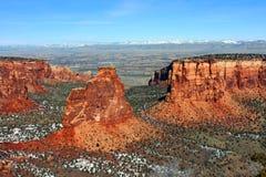 Monumento nacional de Colorado Imagem de Stock