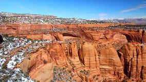 Monumento nacional de Colorado do ponto dos artistas video estoque