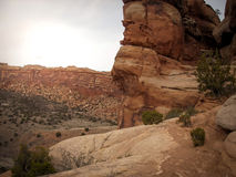 Monumento nacional de Colorado perto de Grand Junction Colorado Imagem de Stock