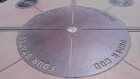 Monumento nacional de cuatro esquinas Fotografía de archivo
