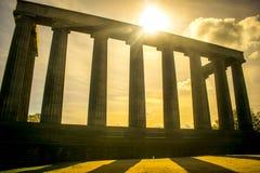 Monumento nacional de Escocia en la colina de Calton, Edimburgo, Escocia imagen de archivo