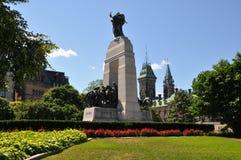 Monumento nacional de la guerra en Ottawa Fotos de archivo libres de regalías