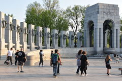 Monumento nacional de la Segunda Guerra Mundial en Washington, DC Fotos de archivo libres de regalías