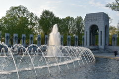 Monumento nacional de la Segunda Guerra Mundial en Washington, DC Imagen de archivo libre de regalías