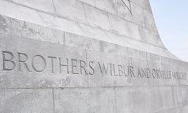 Monumento nacional de los hermanos de Wright Imagen de archivo libre de regalías