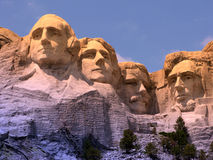 Monumento nacional de Rushmore del montaje fotos de archivo libres de regalías