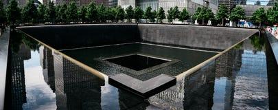 Monumento nacional del 11 de septiembre en New York City Imagen de archivo libre de regalías